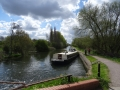 Kailani before a lock on the River Lee
