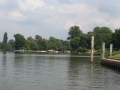 Leaving Shepperton Lock