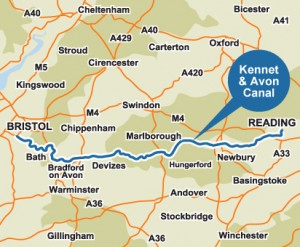 The Kennet &Avon Map