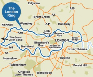 The London Ring map
