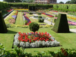 Part of the gardens at Hampton Court Palace