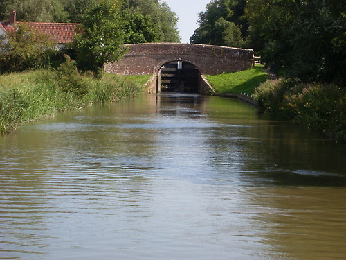 Lock on the Kennet and Avon