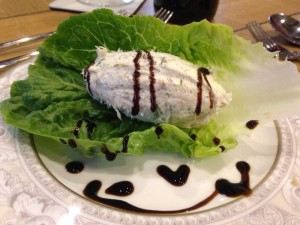 Smoked Mackerel Pate served on a bed of Lettuce