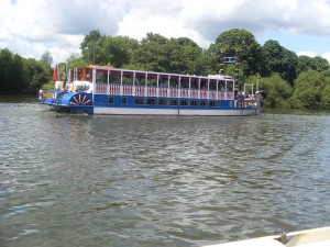 A Steamer on the River Thames