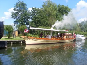 A traditional steam boat