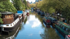Towards the Maida Hill Tunnel from Little Venice