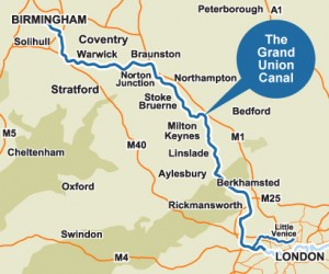 Map of Grand Union Canal
